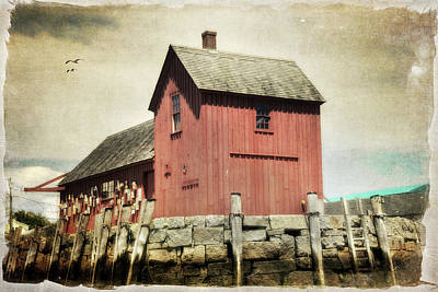 Rockport Ma Photograph - Motif No1 - Red Fishing Shack - Rockport by Joann Vitali