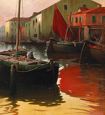 Painting - Motif Of Chioggia by Adolf Kaufmann