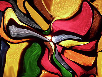 Mixed Media - Motion And Light Abstract by David Dehner