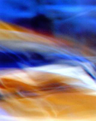 Photograph - Motion Blue And Gold by Karin Kohlmeier