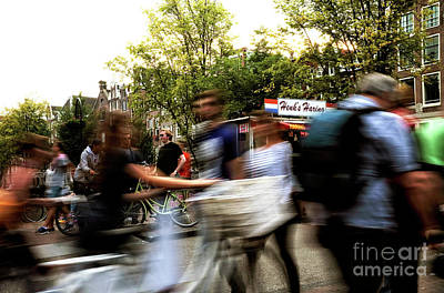 Photograph - Motion In Amsterdam by John Rizzuto