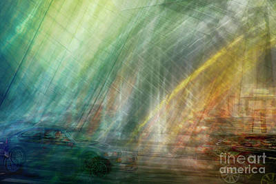 Art Print featuring the photograph motion in Dublin street by Ariadna De Raadt