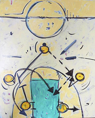 Basketball Abstract Painting - Motion Offense by John Sheppard