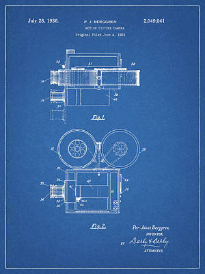 Drawing - Motion Picture Camera by Dan Sproul