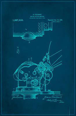 Motion Picture Machine Patent Drawing 1b Art Print