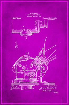 Motion Picture Machine Patent Drawing 1c Art Print