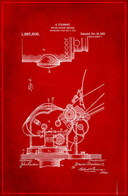 Motion Picture Machine Patent Drawing 1d Art Print