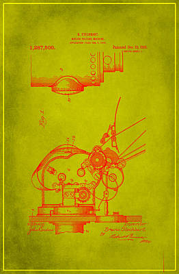 Motion Picture Machine Patent Drawing 1f Art Print