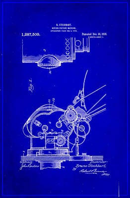 Motion Picture Machine Patent Drawing 1g Art Print