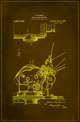 Motion Picture Machine Patent Drawing  Art Print