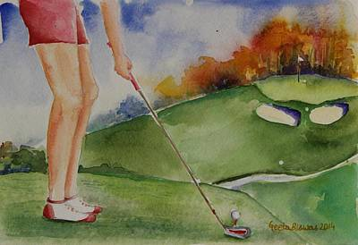 Painting - Motivation For Golfer by Geeta Biswas