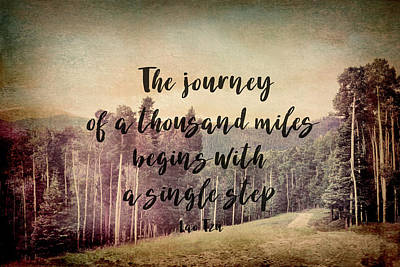 Photograph - Motivational Quote The Journey by Ann Powell