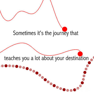 Motivational Quotes - Sometimes It's The Journey That Teaches You A Lot About Your Destination. Art Print by Celestial Images
