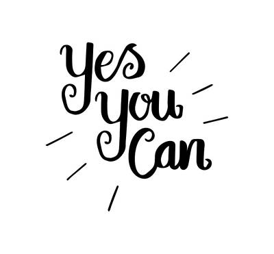 Just Do It Drawing - Motivational Quotes - Yes You Can by Love Life Lettering