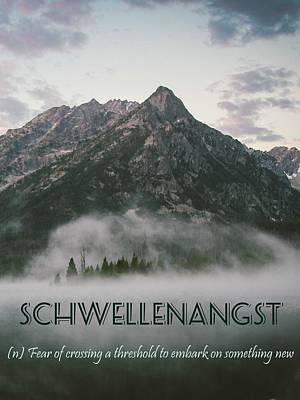 Strong Painting - Motivational Travel Poster - Schwellenangst by Celestial Images