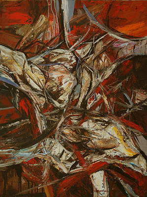 Abstracted Figuration Painting - Motivos Espanoles Vi by Mirjana Lucic