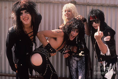 Motley Crue Photograph - Motley Crue by David Plastik