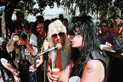 Nikki Sixx Photograph - Motley Crue/ Us Festival '83 #2 by Chris Deutsch