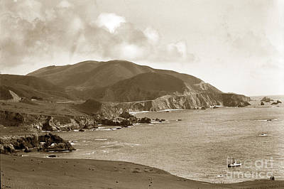 Photograph - Notleys Landing Big Sur Coast Circa 1933 by California Views Mr Pat Hathaway Archives