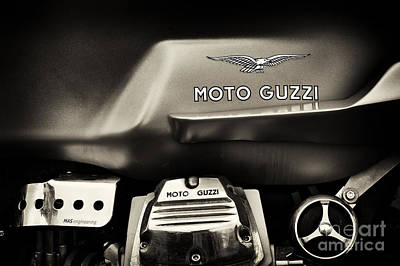 Photograph - Moto Guzzi V7 Cafe Racer Sepia by Tim Gainey