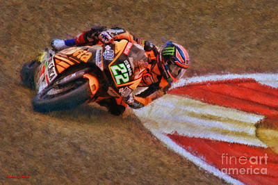 Photograph - Moto2 Sam Lowes by Blake Richards
