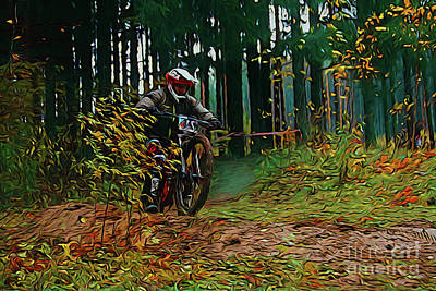 Photograph - Motocross 18618 by Ray Shrewsberry