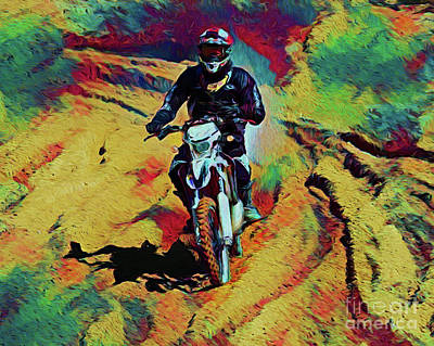 Photograph - Motocross 19418-1 by Ray Shrewsberry