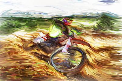 Motocross B Art Print