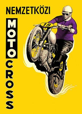 Painting - Motocross by Gary Grayson