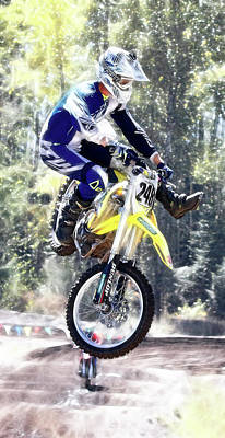 Photograph - Motocross Jump II by Athena Mckinzie
