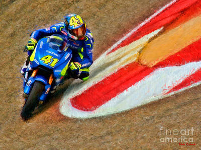 Photograph - Motogp Aleix Espargaro Suzeki by Blake Richards
