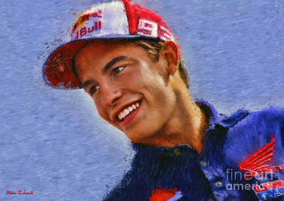 Photograph - Motogp Marc Marquez Portrait by Blake Richards