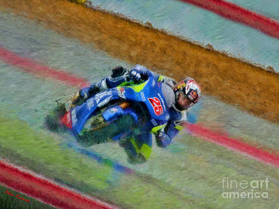 Photograph - Motogp Maverick Vinales Suzuki by Blake Richards