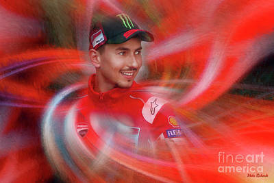 Photograph - Motogp's Jorge Lorenzo  by Blake Richards