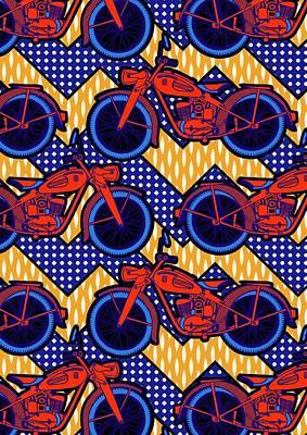 Motor Bike Art Print by Sholto Drumlanrig