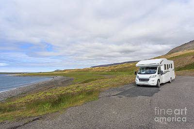 Photograph - Motor Home Camper Rv In Iceland by Edward Fielding