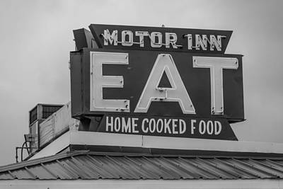 Photograph - Motor Inn Eat by John McGraw