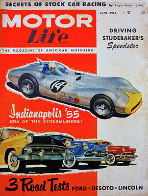 Photograph - Motor Life Mag June 1955 by David Lee Thompson