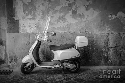 Motor Scooter In Italy Art Print by Edward Fielding