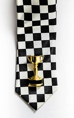 Motor Sport Racing Tie And Trophy Art Print by Jorgo Photography - Wall Art Gallery