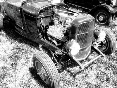 Photograph - Motor Wheel Bw by David King