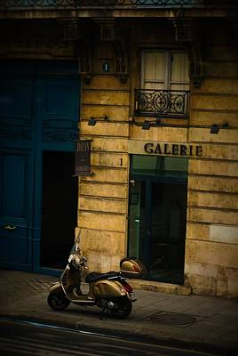 Photograph - Motorbike At Art Gallery by RayZa Photography