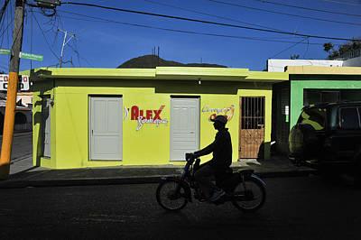 Photograph - Motorbike Rider, San Jose De Ocoa, 2011. by John Jacquemain
