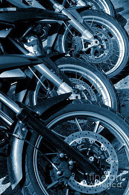 Motorbike Wheels Art Print by Carlos Caetano