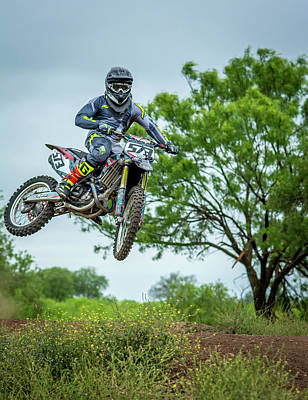 Photograph - Motocross Aerial by David Morefield