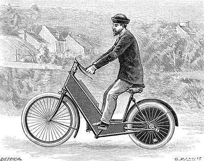 Photograph - Motorcycle, 1894 by Granger