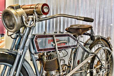Paul Ward Wall Art - Photograph - Motorcycle - 1913 Harley Davidson 9a by Paul Ward