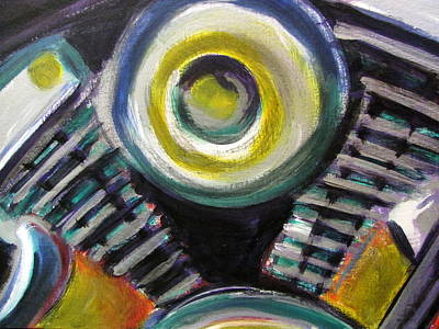 Painting - Motorcycle Abstract Engine 2 by Anita Burgermeister