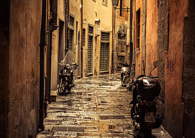 Florence Photograph - Motorcycle Alley by Chris Fletcher
