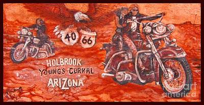 Motorcycle Art Original by John Malone